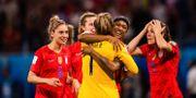 USA firar efter att ha slagit ut England i semifinalen. SIMON HASTEGÅRD / BILDBYRÅN