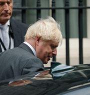 Boris Johnson utanför 10 Downing Street på onsdagen Matt Dunham / TT NYHETSBYRÅN