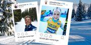 Therese Johaug och Johannes Høsflot Klæbo har mycket följare i sociala medier.  TT / Instagram