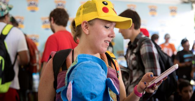 Pokémon Go-spelare. Arkivbild. Erin Hooley / TT NYHETSBYRÅN