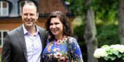 Före detta finansministern Anders Borg och Dominika Peczynski.  Maja Suslin/TT / TT NYHETSBYRÅN
