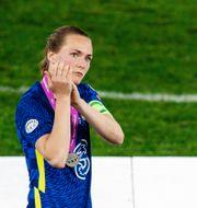 Magdalena Eriksson med silvermedaljen.  MICHAEL ERICHSEN / BILDBYRÅN