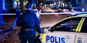 Polisen på platsen för explosionen Johan Nilsson/TT / TT NYHETSBYRÅN