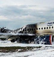 Flygplanet var en Suchoj Superjet 100.   TT NYHETSBYRÅN