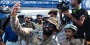 Arkivbild. Saudisk soldat i Aden, Jemen. Jon Gambrell / TT NYHETSBYRÅN/ NTB Scanpix