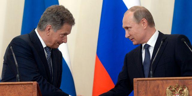 Sauli Niinistö, här med Rysslands Vladimir Putin Alexander Nemenov / TT / NTB Scanpix