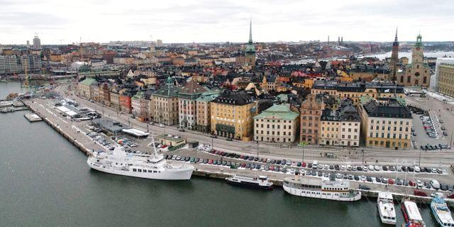 Demonstrationen hålls på Mynttorget i Gamla stan i Stockholm under lördagen. Fredrik Sandberg/TT / TT NYHETSBYRÅN