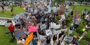 Demonstrationer i Utah trots smittan. Rick Bowmer / TT NYHETSBYRÅN