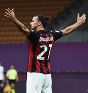 Zlatan i Hammarby och Zlatan i Milan. Bildbyrån