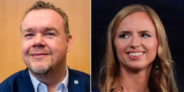 Toppnamnen David Lega och Sara Skyttedal. TT