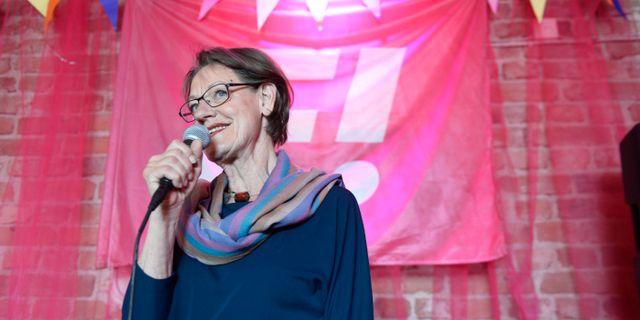 Gudrun Schyman (Fi). Arkivbild. MAJA SUSLIN / TT / TT NYHETSBYRÅN
