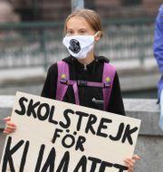 Greta Thunberg.  Fredrik Sandberg/TT / TT NYHETSBYRÅN