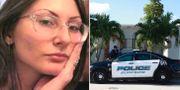 Den 18-åriga kvinnan och en polisbil utanför hennes hem. Jefferson County Sheriff's Office, Wilfredo Lee/AP