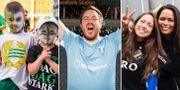 Allsvenskan 2020 kommer spelas utan publik, men inte utan supportrar, skriver Simon Bank. Arkivbilder.