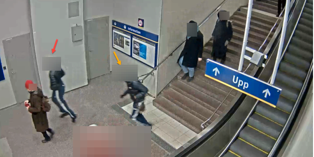 Bild ur polisens förundersökning från ett uppmärksammat ungdomsrån i södra Stockholm Polisen