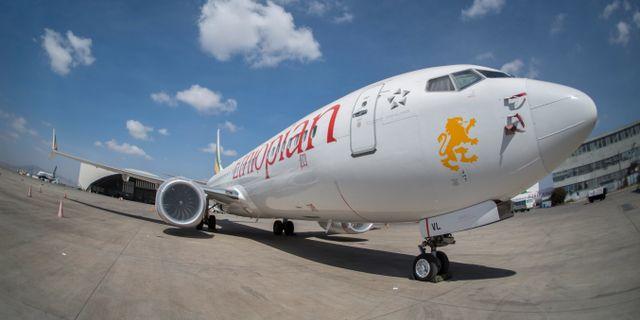 Ett Boeing 737 Max-plan i Addis Ababa i Etiopien. Mulugeta Ayene / TT NYHETSBYRÅN/ NTB Scanpix