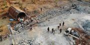 Flygfoto över det område som anfölls när Abu Bakr al-Baghdadi dödades. OMAR HAJ KADOUR / AFP