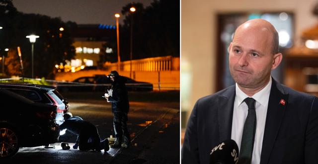 Kriminaltekniker vid skjutning i Göteborg i augusti/Søren Pape Poulsen/Arkivbilder TT