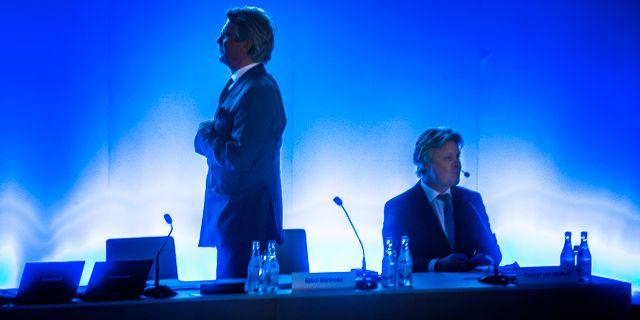 Ordförande Björn Wahlroos och vd Casper von Koskull. Tomas Oneborg/SvD/TT / TT NYHETSBYRÅN