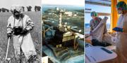 Bilder efter kärnkraftsolyckan i Tjernobyl 1986 /Sjukvårdspersonal i Tyskland 2020. TT