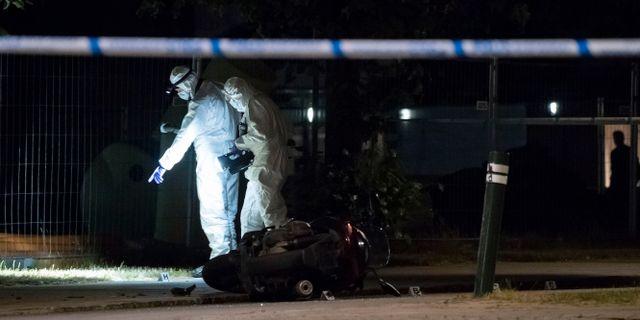 Bild från brottsplatsen förra året i Lindängen. Johan Nilsson/TT / TT NYHETSBYRÅN