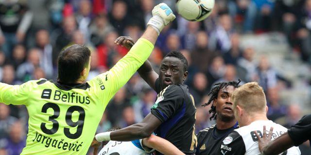 Arkivbild: Match mellan belgiska lagen Anderlecht och Club Brügge. Yves Logghe / TT NYHETSBYRÅN