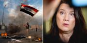 Demonstrant i Irak/Ann Linde. TT