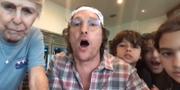 Matthew McConaughey. Skärmdump Facebook