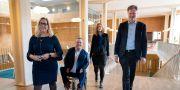 Alliansen i Göteborg. Helene Odenjung (L), David Lega (KD), Emmyly Bönfors (C) och Axel Josefson (M). Arkivbild. Thomas Johansson/TT / TT NYHETSBYRÅN