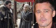 """Brad Pitt budade 980000 kronor för att få titta på ett avsnitt tillsammans med """"Game of thrones""""-stjärnorna.  TT/AP"""