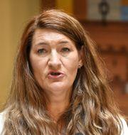 LO-ordföranden Susanna Gideonsson. Anders Wiklund/TT / TT NYHETSBYRÅN