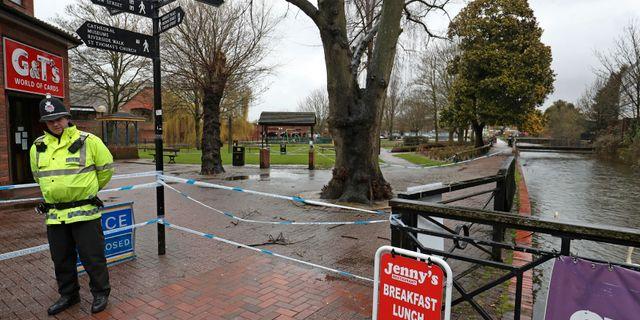 Ex-spionen Sergej Skripal och hans dotter förgiftades i brittiska Salisbury. Jonathan Brady / TT / NTB Scanpix