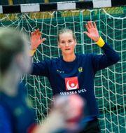Sveriges målvakt Johanna Bundsen.  Johan Nilsson/TT / TT NYHETSBYRÅN