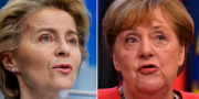 Ursula von der Leyen och Angela Merkel. TT