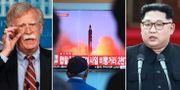 John Bolton och Kim Jong-Un. TT.