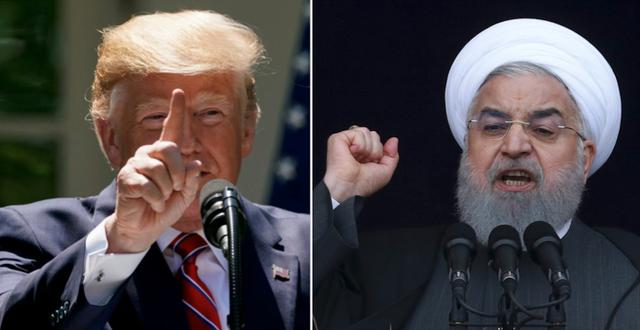 Donald Trump och Irans president Hassan Rouhani  TT