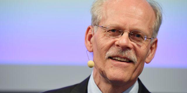 Riksbankens chef Stefan Ingves håller pressträff med anledning av Riksbankens räntebesked. Henrik Montgomery/TT / TT NYHETSBYRÅN
