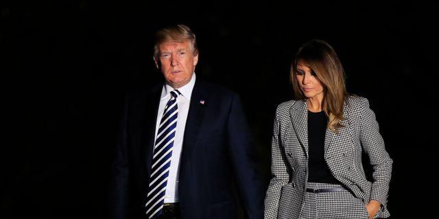 Donald och Melania Trump. Manuel Balce Ceneta / TT / NTB Scanpix