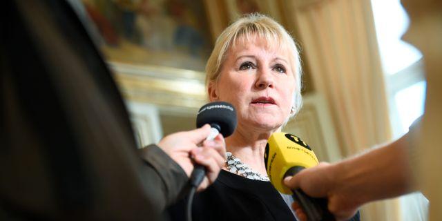 Utrikesminister Margot Wallström (S). Alexander Larsson Vierth/TT / TT NYHETSBYRÅN