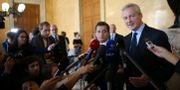 Bruno Le Maire presenterar budgeten. STEPHANE MAHE / TT NYHETSBYRÅN