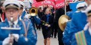 Finansminister Magdalena Andersson på första maj i Landskrona tidigare i år. Johan Nilsson/TT / TT NYHETSBYRÅN