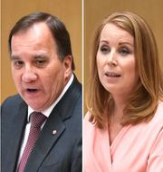 Jimmie Åkesson / Stefan Löfven / Annie Lööf / Jan Björklund.  TT