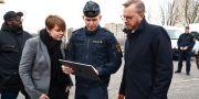 Inrikesminister Mikael Dambergs (S) och kommunstyrelsens ordförande i Malmö, Katrin Stjernfeldt Jammeh (S) Andreas Hillergren/TT / TT NYHETSBYRÅN