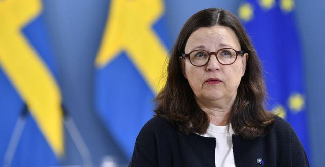 Anna Ekström. Henrik Montgomery/TT / TT NYHETSBYRÅN