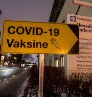 Vaccinationsmottagning i Oslo. Terje Pedersen / TT NYHETSBYRÅN