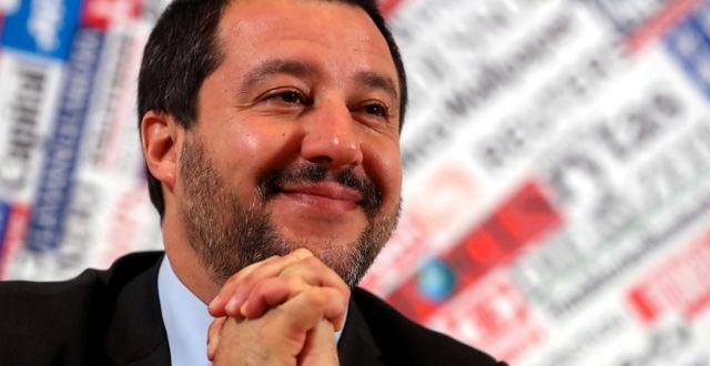 Italiens vice premiärminister Matteo Salvini. Tony Gentile / TT NYHETSBYRÅN