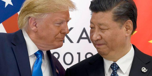 Donald Trump och Xi Jinping Susan Walsh / TT NYHETSBYRÅN/ NTB Scanpix
