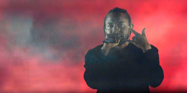 Kendrick Lamar på Coachella-festivalen i april 2017. VALERIE MACON / AFP