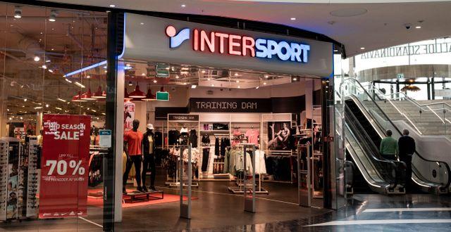 Arkivbild: Intersport är en av de kedjor som har ansökt om och beviljats rekonstruktion i år.  Pontus Lundahl/TT / TT NYHETSBYRÅN
