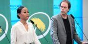 MP:s EU-parlamentariker Alice Bah Kuhnke och Pär Holmgren. Jonas Ekströmer/TT / TT NYHETSBYRÅN